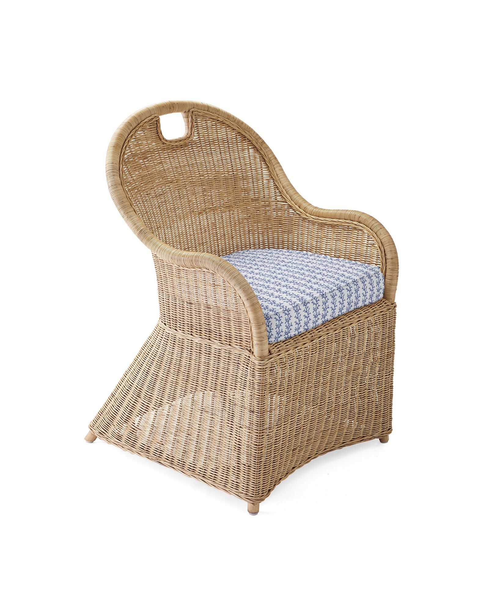 Cushion Cover for Shore Dining Chair & Counter Stool, Beach Bay Linen French Blue