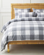 Gingham Duvet Cover, Smoke
