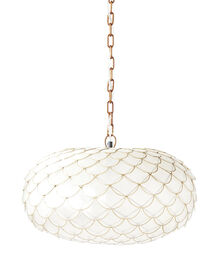 Pendant lighting chandeliers find what you love serena lily capiz scalloped chandelier aloadofball Images