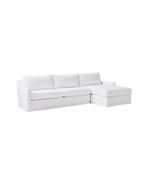 Summit Slipcovered Chaise Sectional - Right-Facing,