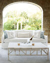 Sundial Outdoor Sofa with Bench Seat - Slipcovered,