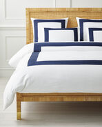 Beach Club Border Duvet Cover, Midnight