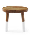 Dip-Dyed Oval Stool – White,