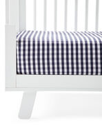 Gingham Crib Sheet, Midnight