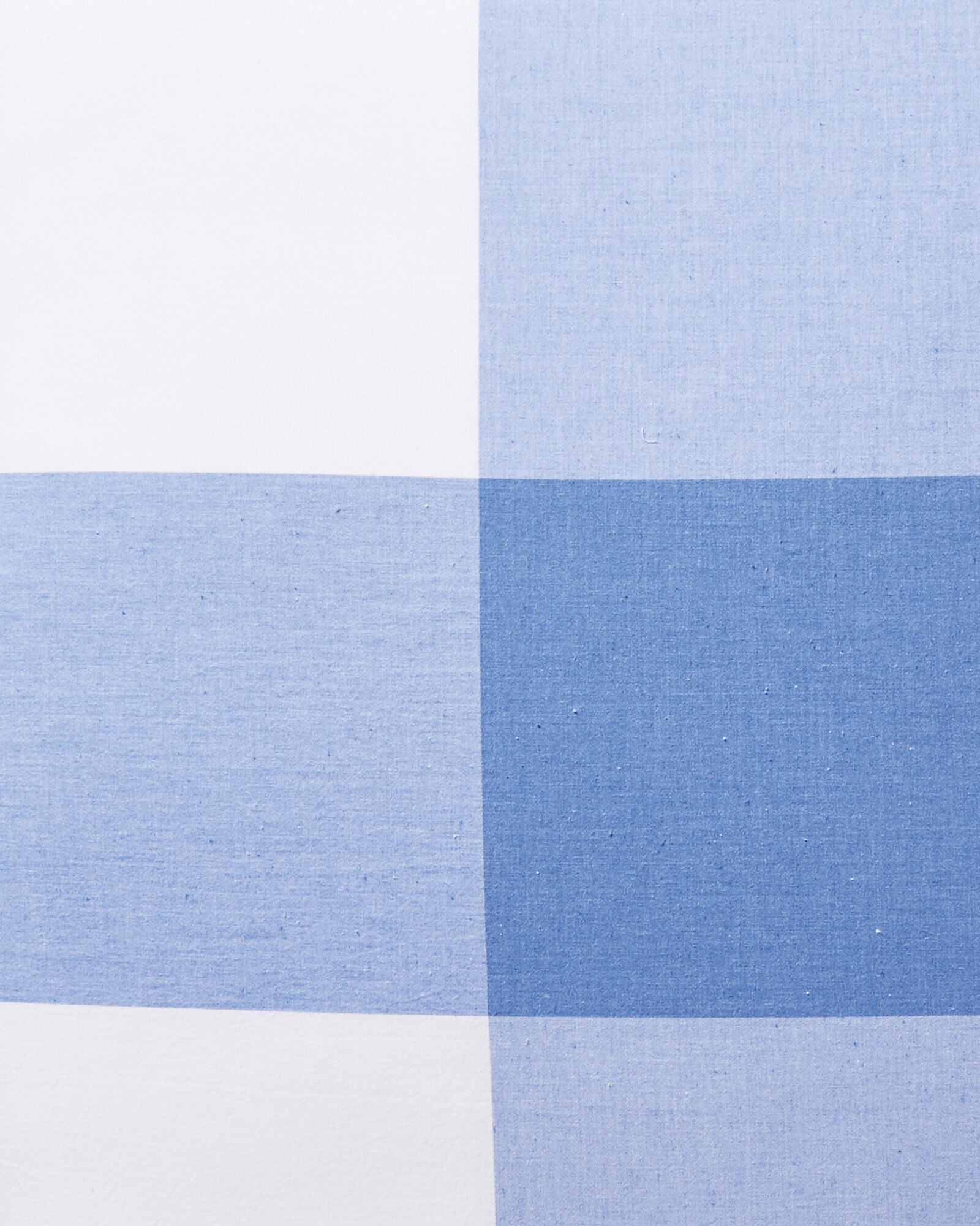 Gingham Bedding Swatch, French Blue