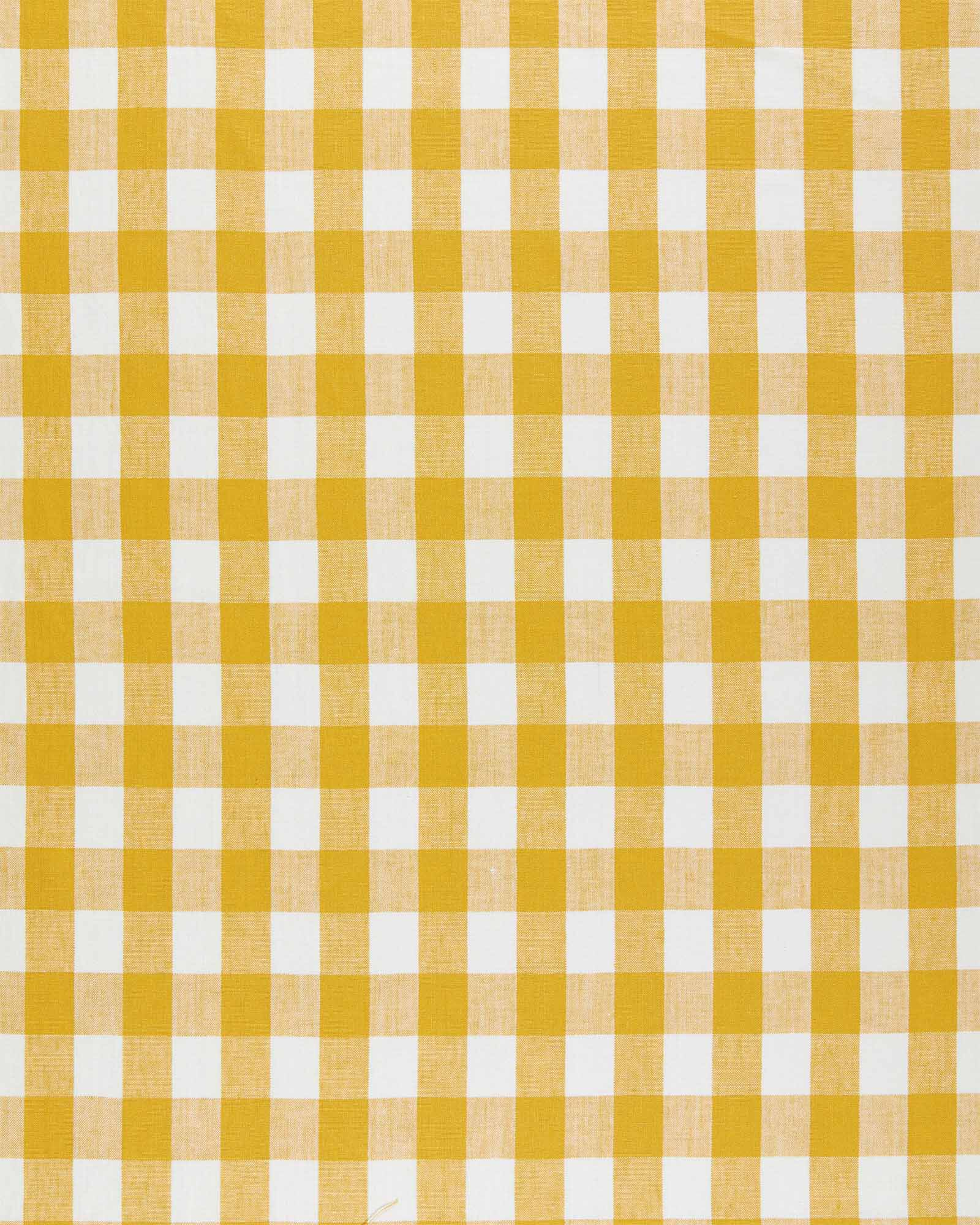 Fabric by the Yard - Classic Gingham Linen, Ochre