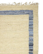 Jute Border Rug Swatch, Denim