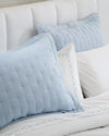 Sutter Quilted Shams, Sky