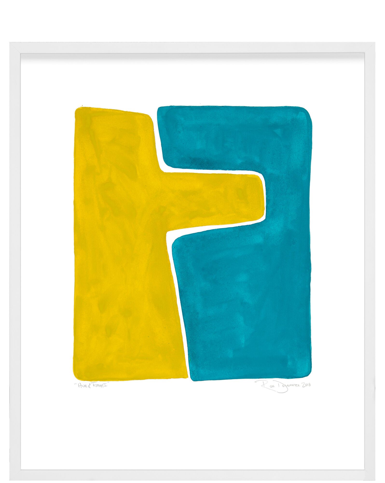 """""""Hue & Form"""" by Rob Delamater, White Frame"""