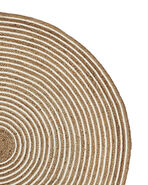 Round Cotton & Jute Rug Swatch,