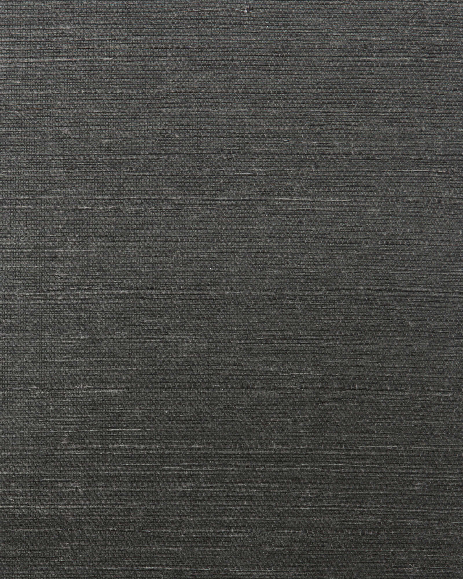 Grasscloth Wallcovering Swatch, Black
