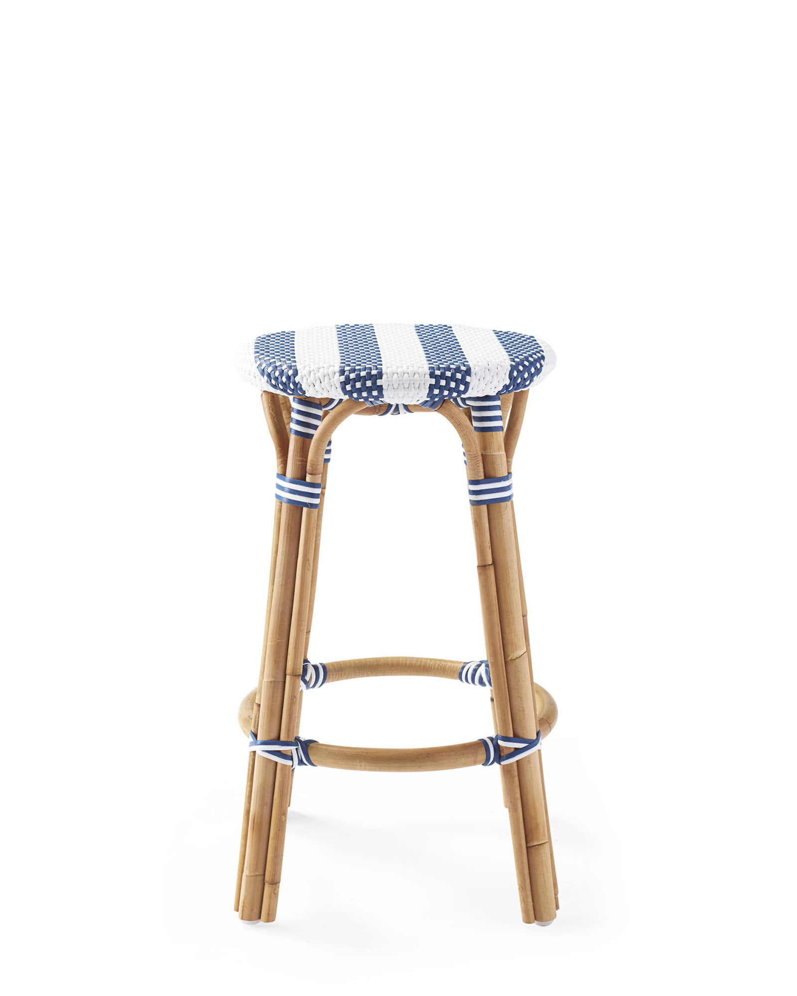 Riviera Backless Counter Stool - Striped, Navy