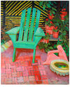 """""""Green Chair on the Patio"""" by Frederick Pomeroy,"""