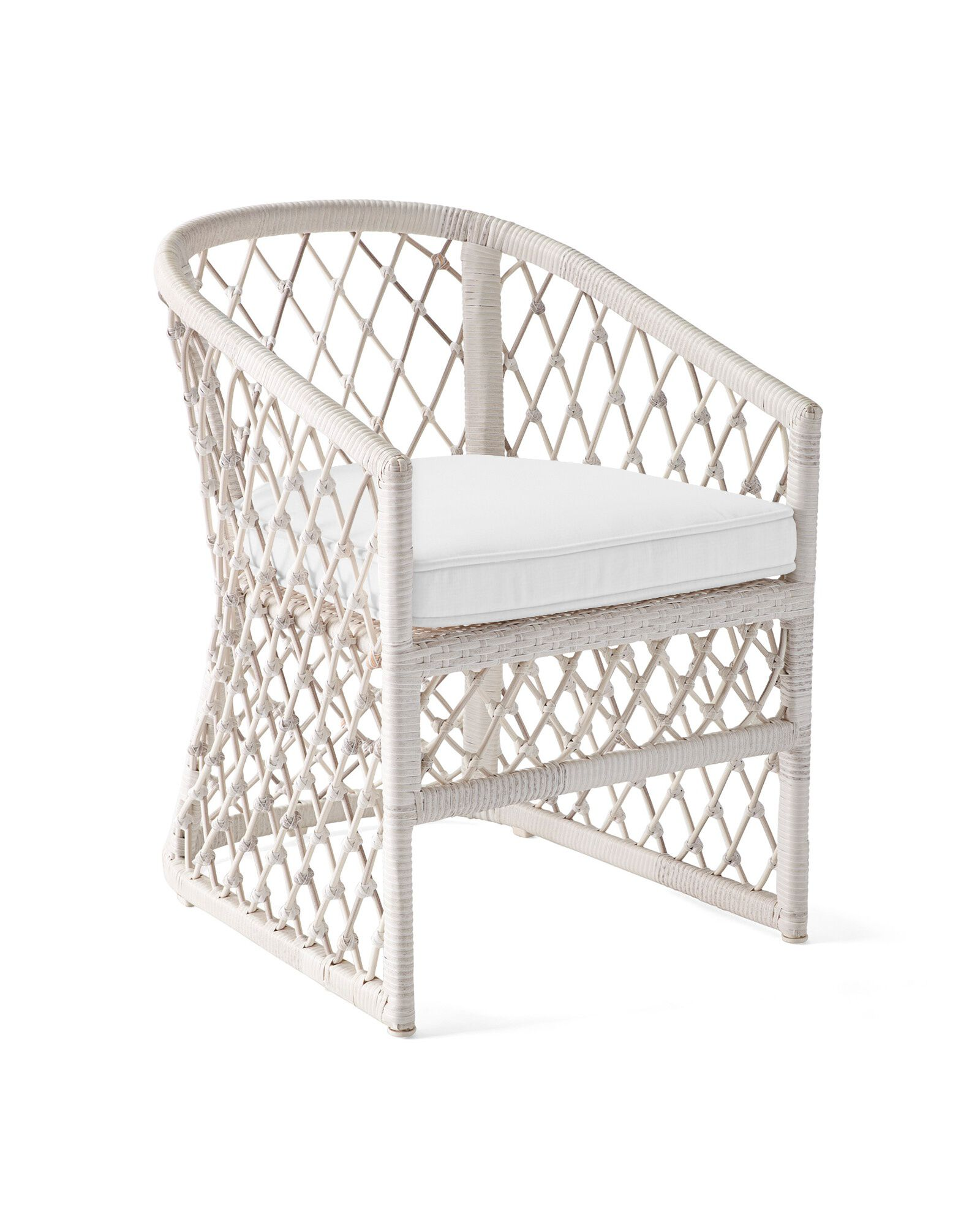 Cushion Cover for Capistrano Dining Chair, Perennials Basketweave White
