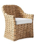 Cushion Cover for Islesboro Chair, Perennials Basketweave White