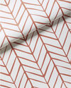 Feather Wallpaper, Coral