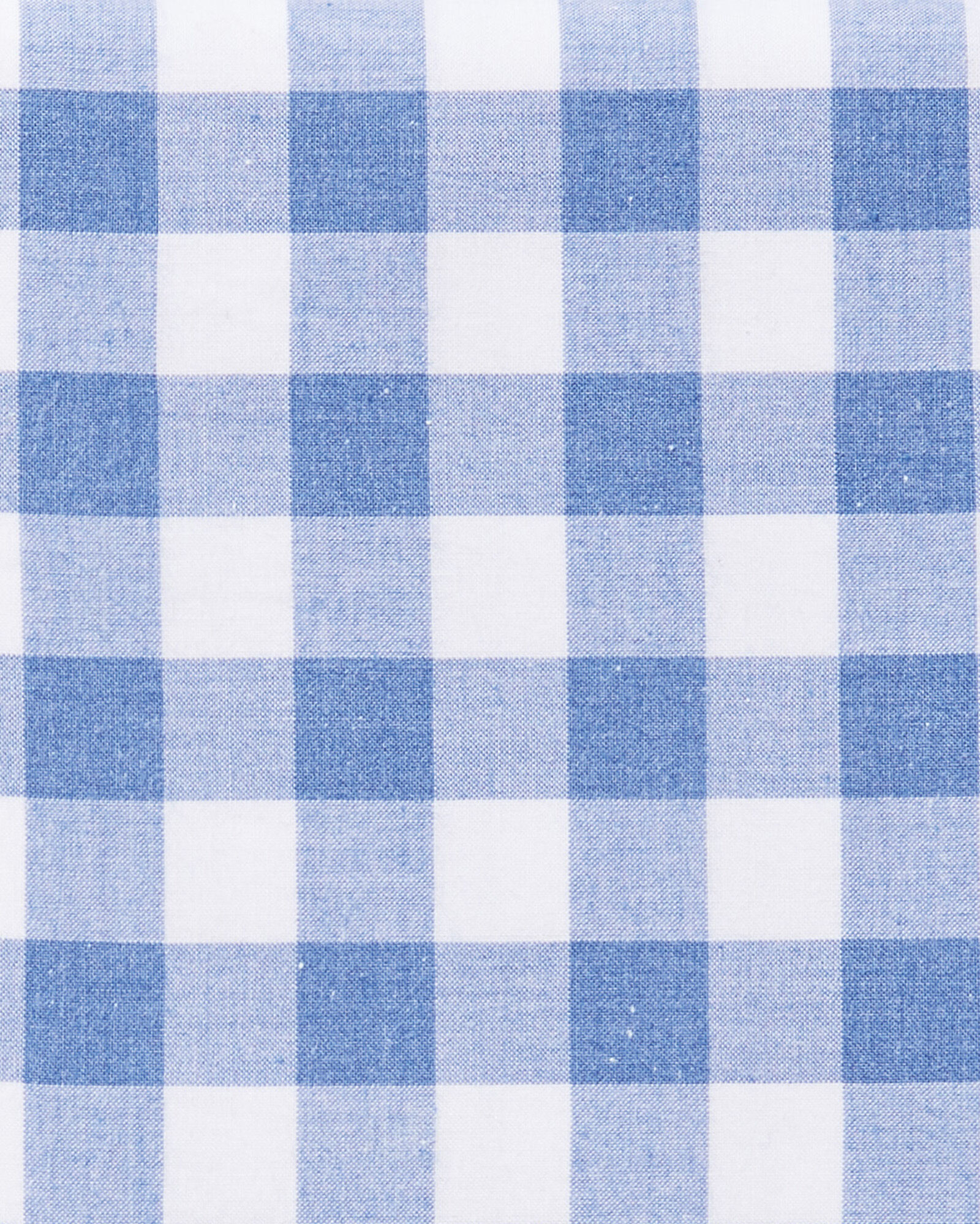 Gingham Sheet Swatch, French Blue