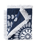 Campania Beach Towel, Navy