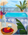 Pool with Peaches by Claire Elliott,
