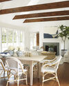 Beach House Expandable Dining Table, Sunbleached Pine