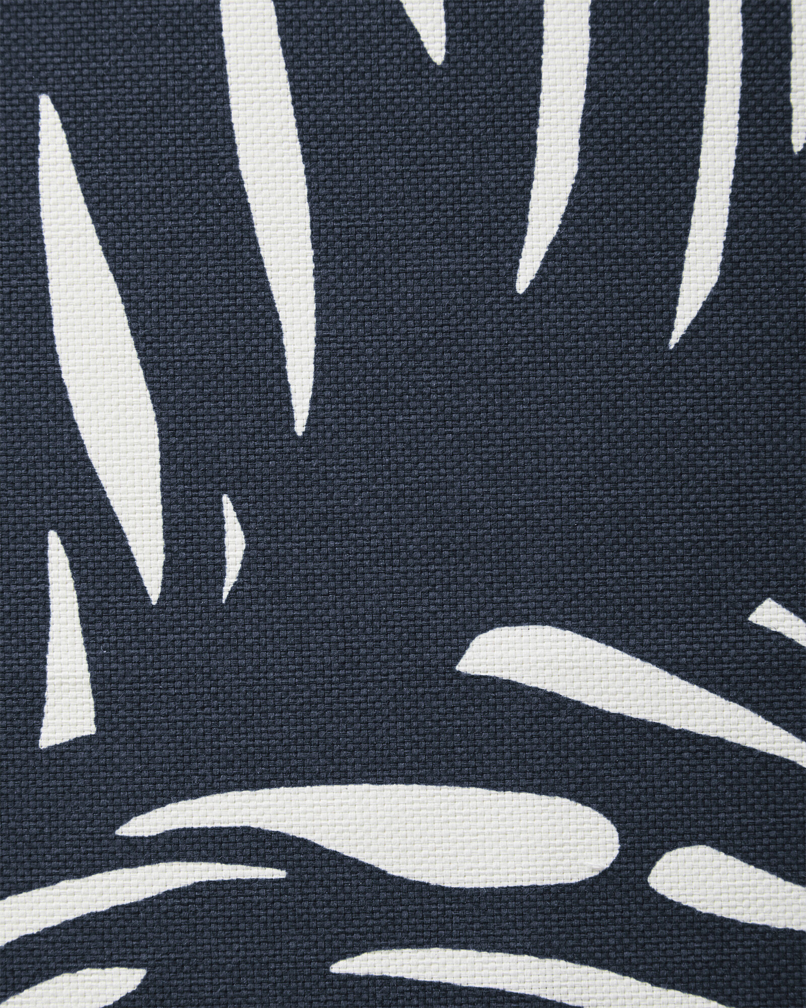 Fabric by the Yard - Palm Outdoor Fabric, Navy
