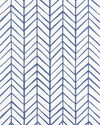 Feather Wallpaper, French Blue