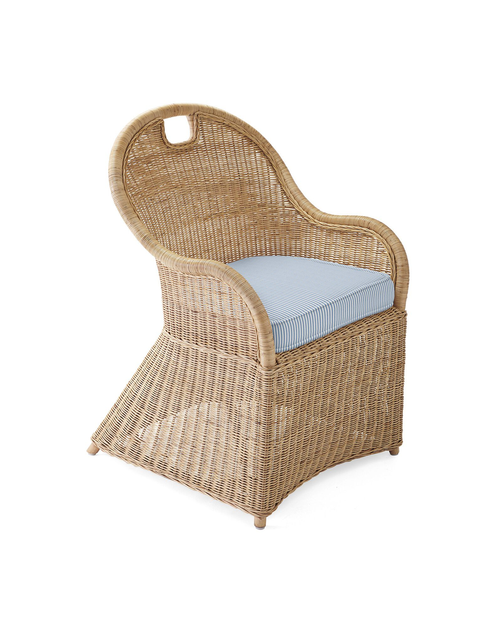 Cushion Cover for Shore Dining Chair & Counter Stool, Perennials Pinstripe French Blue