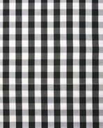 Gingham Bedding Swatch, Black