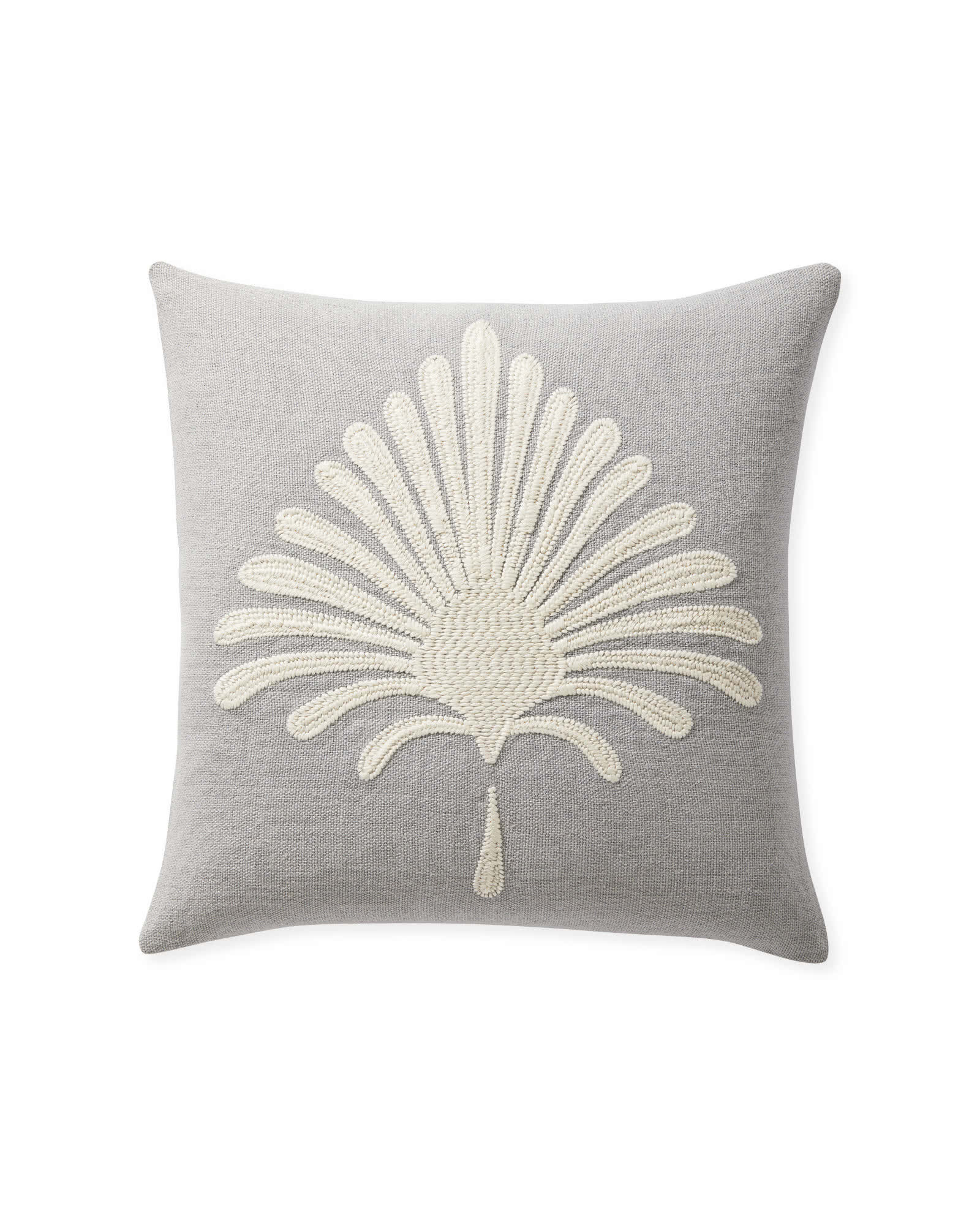 Paloma Embroidered Pillow Cover, Smoke