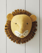 Felted Wool Wall Animal – Lion,