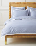 Oxford Stripe Duvet Cover, French Blue