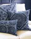 Camille Scroll Pillow Cover, Indigo