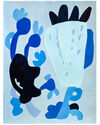 """""""True Blue Abstraction 1"""" by Neicy Frey,"""