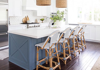 Riviera Counter Stools in Navy/White