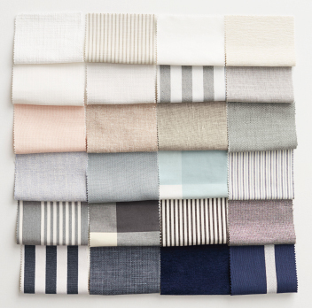 A collection of different fabrics