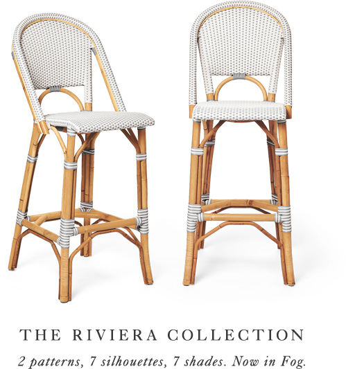 The Riviera Collection: 2 patterns, 7 silhouettes, 7 shades. Now in Fog.