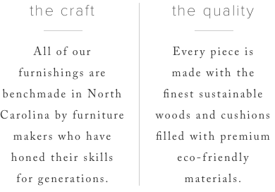 The craft and the quality