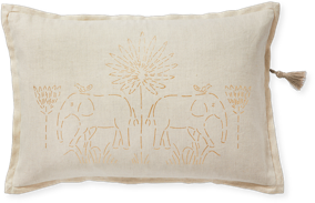 pillow with elephant design