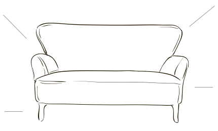 A sketch of a sofa