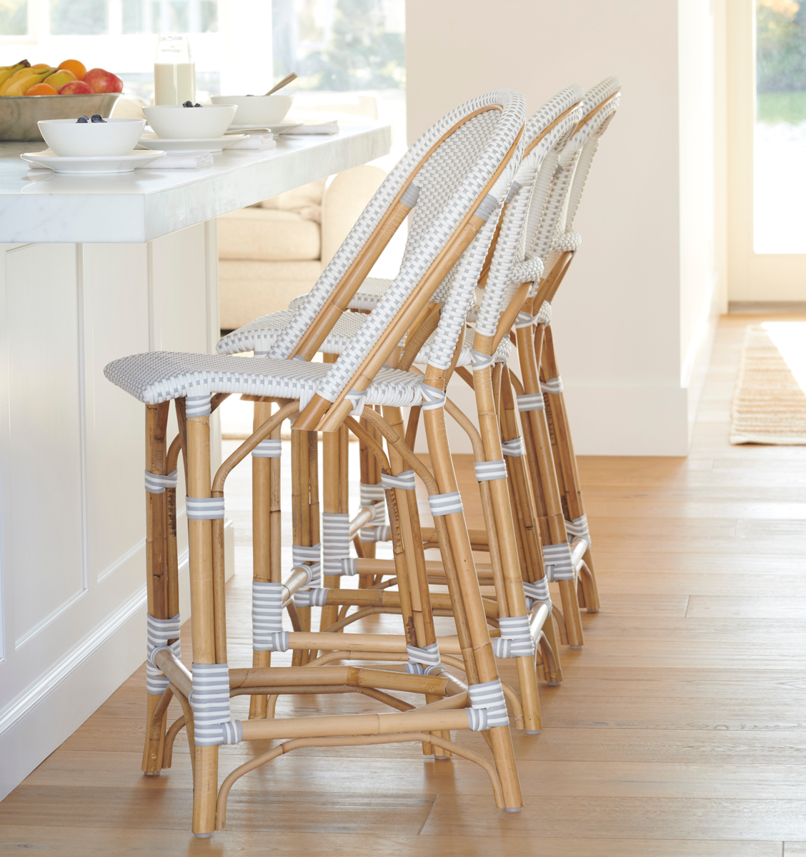 Sunwashed Riviera Counter Stools in Pacific