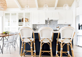 Riviera Counter Stools in White #2