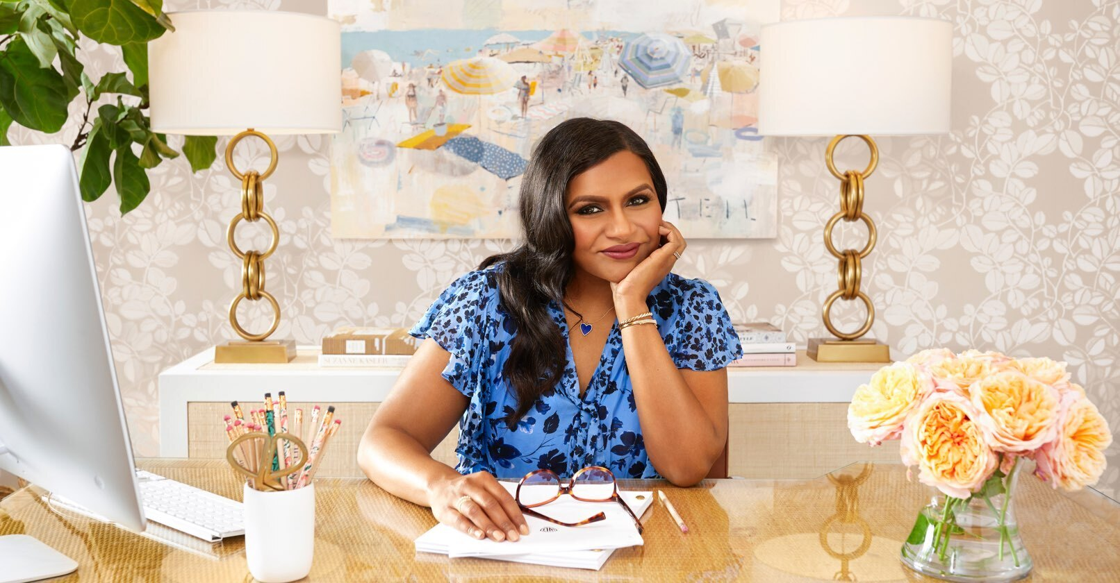 Mindy Kaling Office Makeover