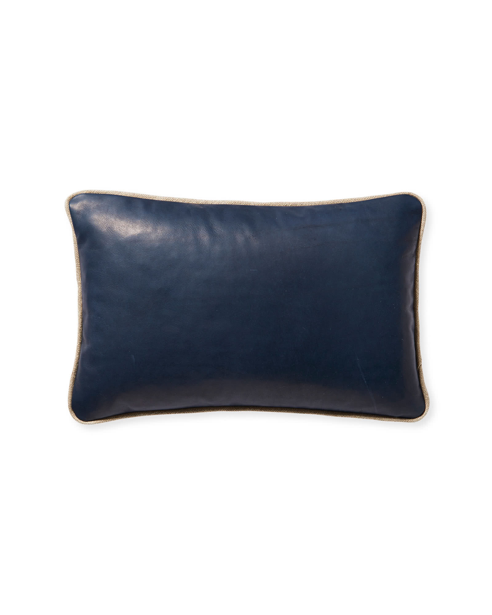 Leather Pillow Cover, Midnight