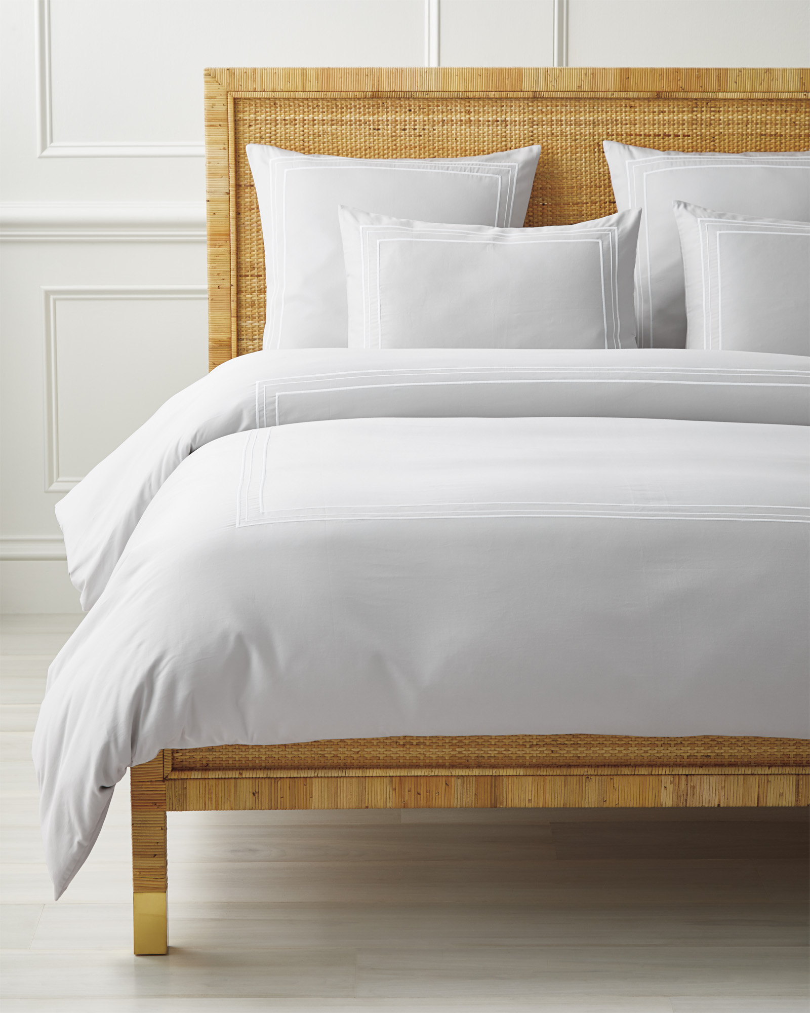 Soho Duvet Cover, Fog/White