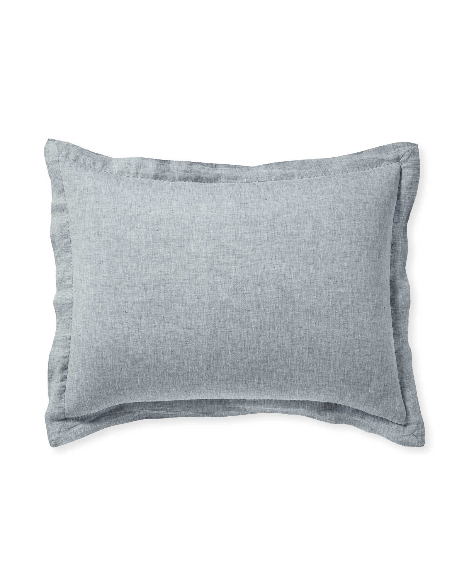 Cavallo Linen Shams, Navy Chambray