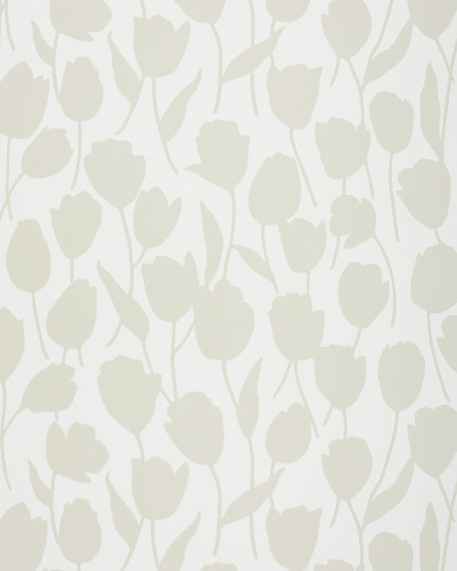 Cortina Wallpaper, Light Sand/White