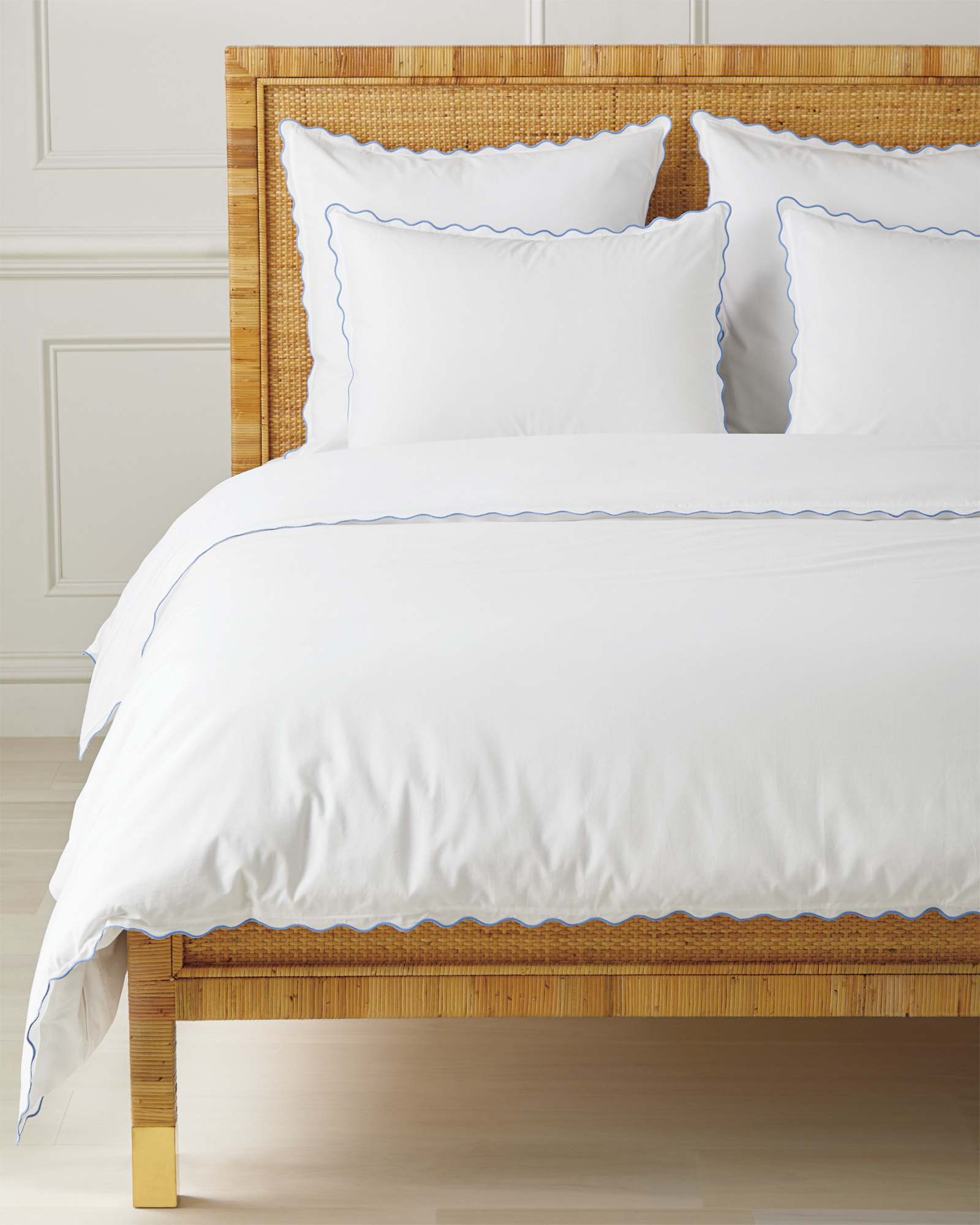 Wave Duvet Cover, French Blue
