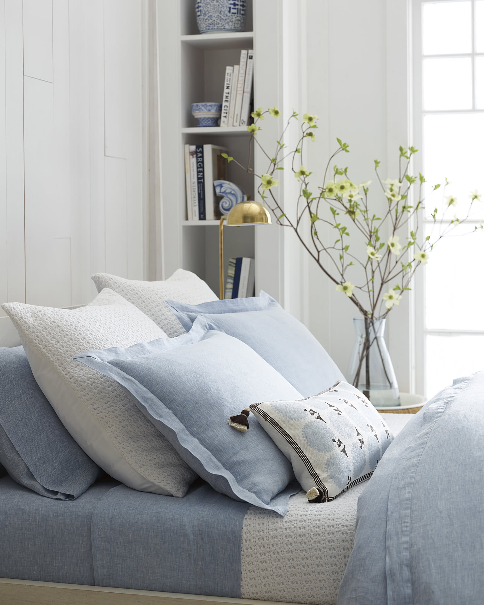 Cavallo bedding bundle with chambray blue beauty - Serena & Lily