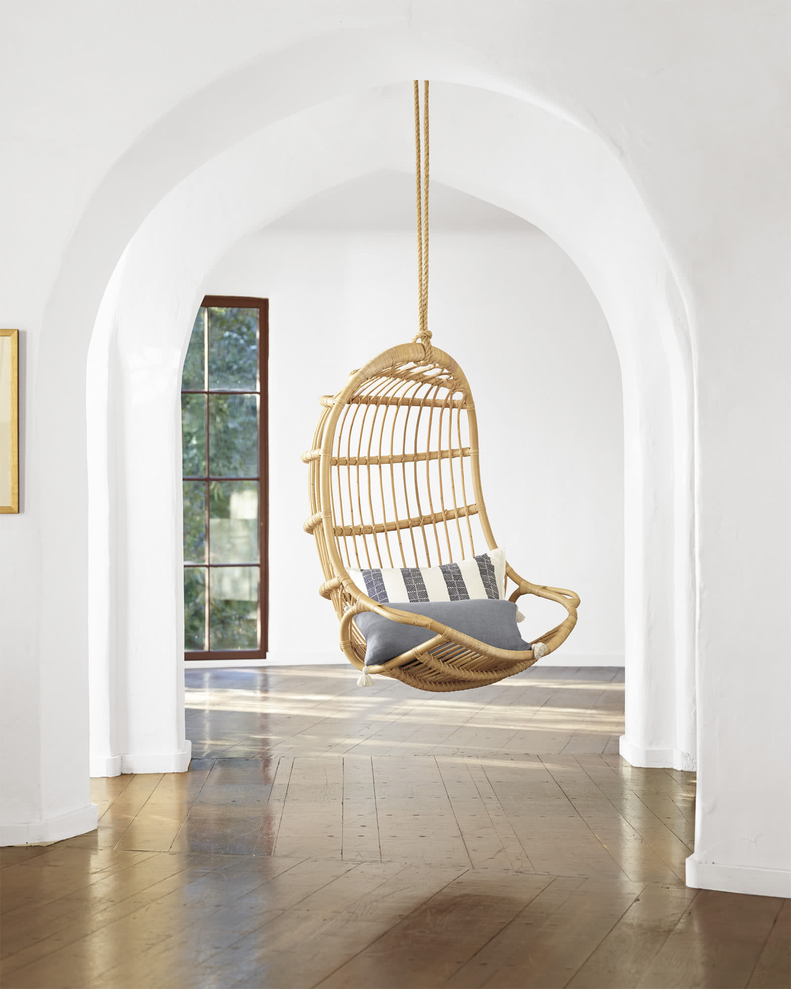 Hanging Rattan Chair Chairs Serena And Lily