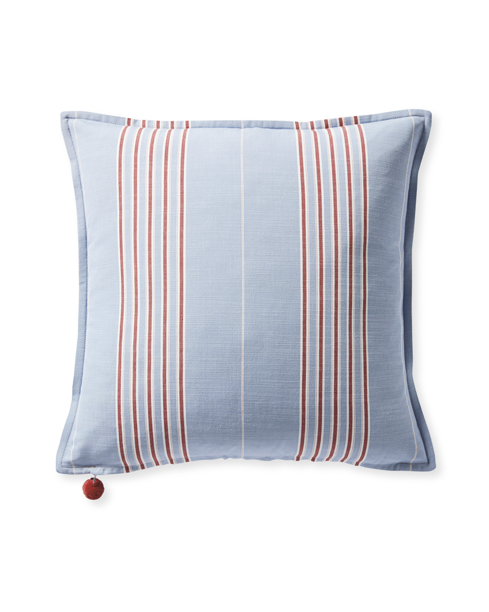 Perennials® Lake Stripe Pillow Cover, Coastal/Poppy